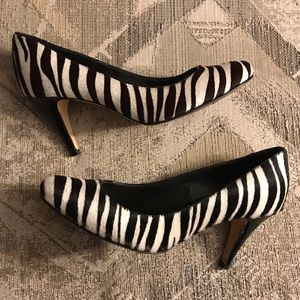 Antonio Melani | Zebra Calf Hair Leather Heel 6.5